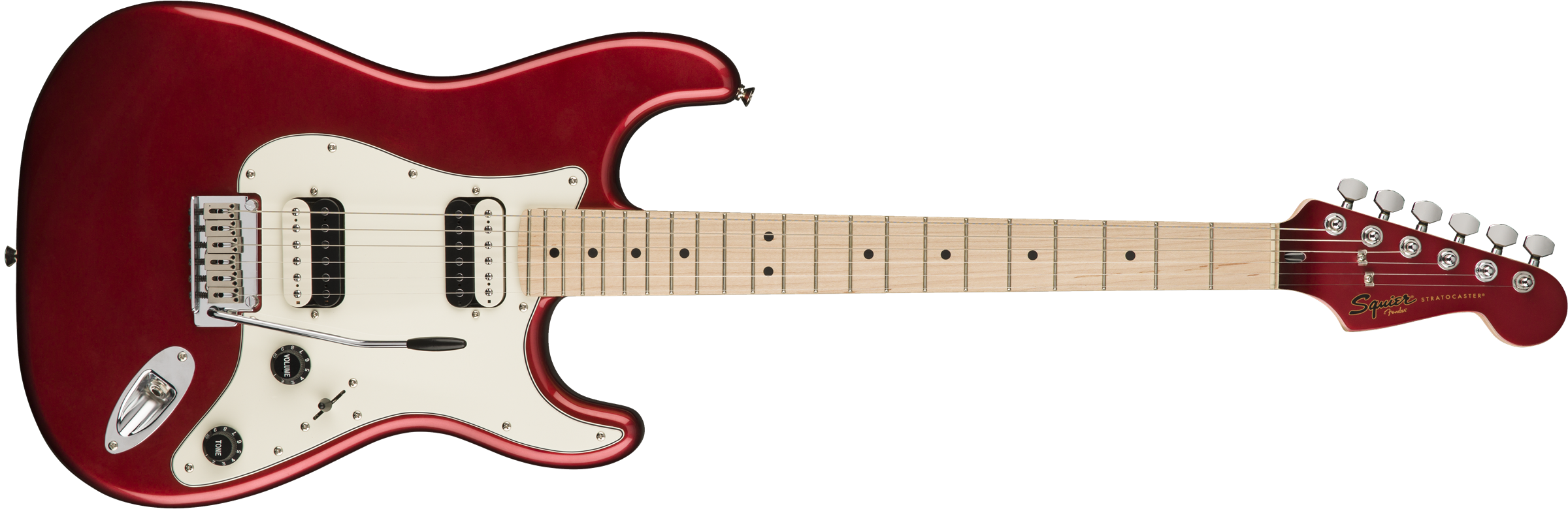 Squier Contemporary Stratocaster HH, Dark Metallic Red elektromos gitár